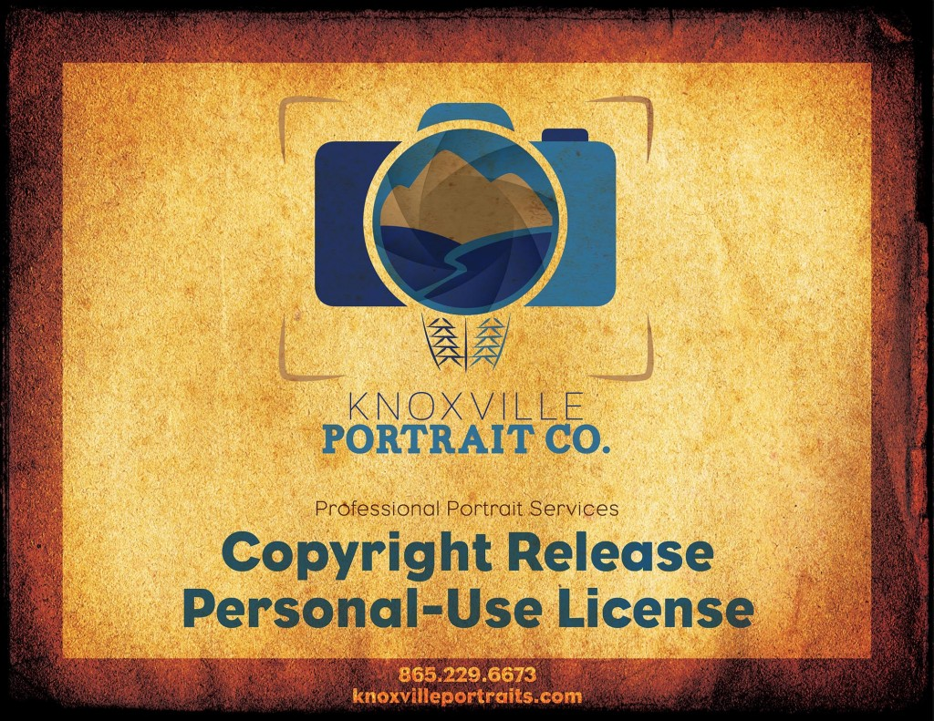 Knoxville Professional Portrait Photographer Copyright Release